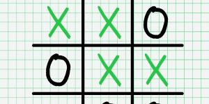 Hra - Tic Tac Toe Paper Note