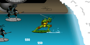 Hra - NINJA TURTLES SEWER SURF SHOWDOWN
