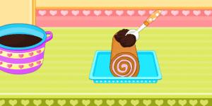 Hra - Barbie Chocolate Ice Cream Cake Roll