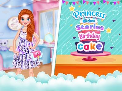 Hra - Princess Kitchen Stories: Birthday Cake