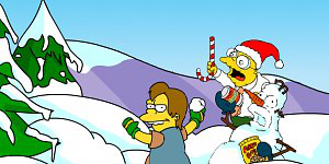 Hra - Simpsons snow fight