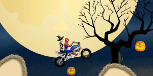 Hra - Spiderman Halloween Racing