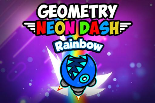 Hra - Geometry Neon Dash Rainbow
